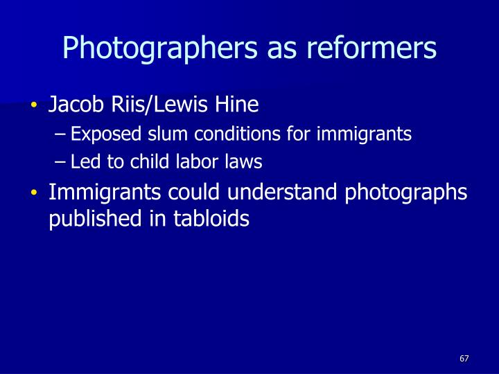 Photographers as reformers