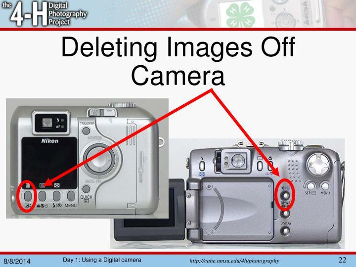 Deleting Images Off Camera