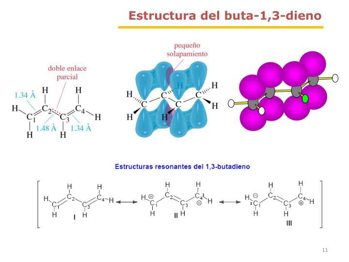 Estructura del buta-1,3-dieno