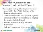 how many commuters are teleworking in metro dc area