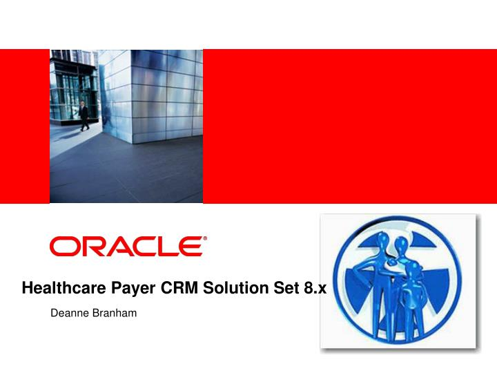 healthcare payer crm solution set 8 x n.
