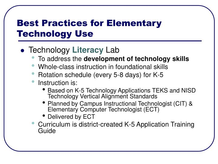 Best Practices for Elementary Technology Use
