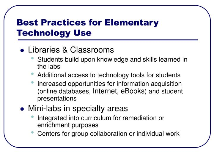 Best Practices for Elementary
