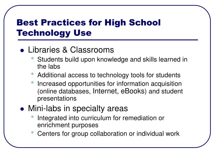 Best Practices for High School