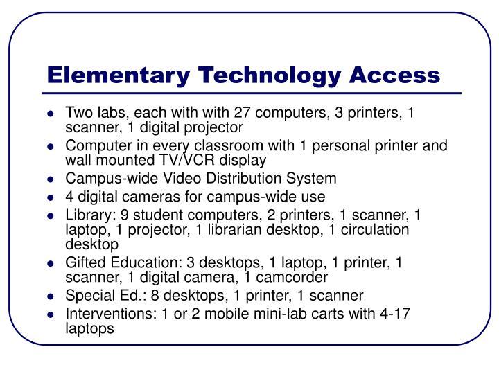 Elementary Technology Access