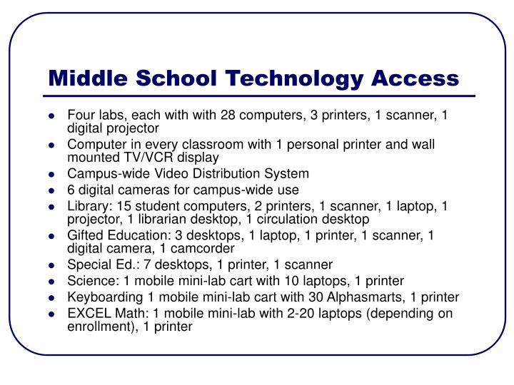 Middle School Technology Access