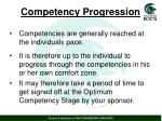 competency progression
