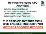 how can we record cpd activities1