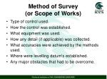 method of survey or scope of works1