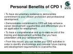 personal benefits of cpd 1