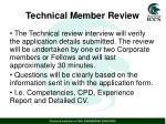 technical member review1