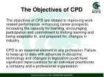 the objectives of cpd
