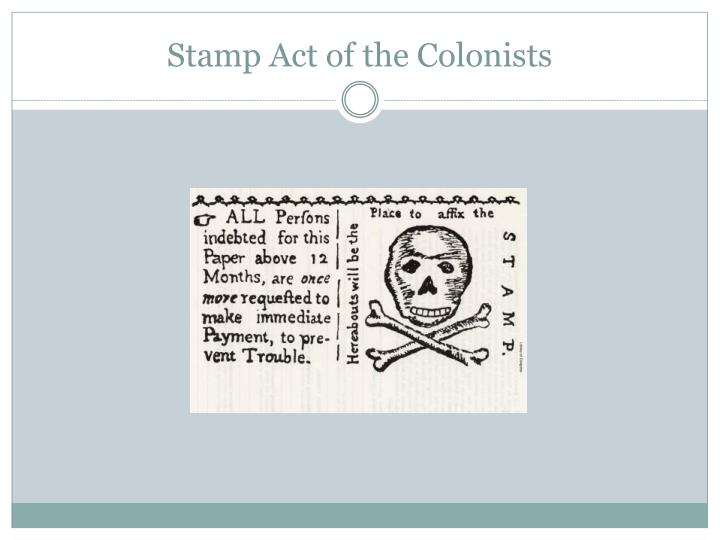 Stamp Act of the Colonists