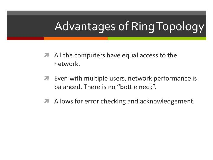 Advantages of Ring Topology