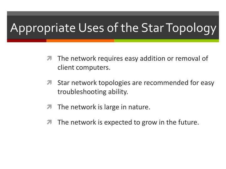 Appropriate Uses of the Star Topology