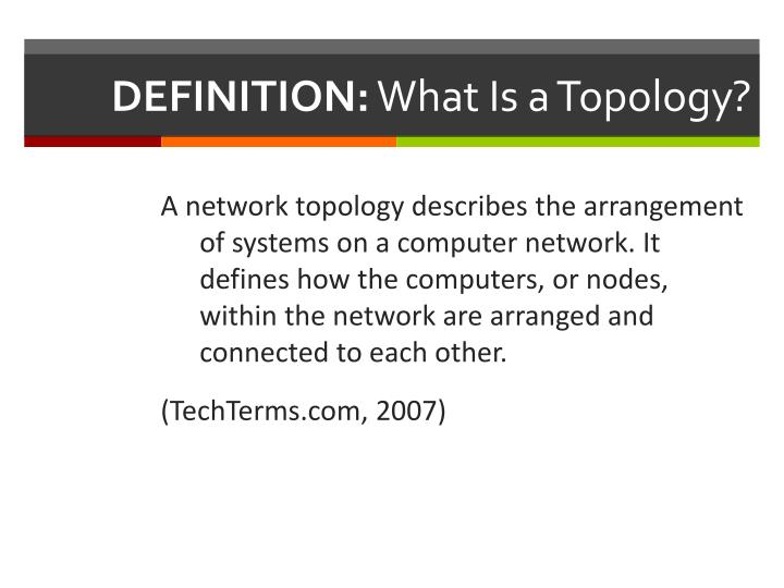 Definition what is a topology