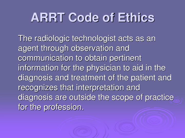 ARRT Code of Ethics