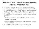 maryland cut through screen opposite after the pop out pass