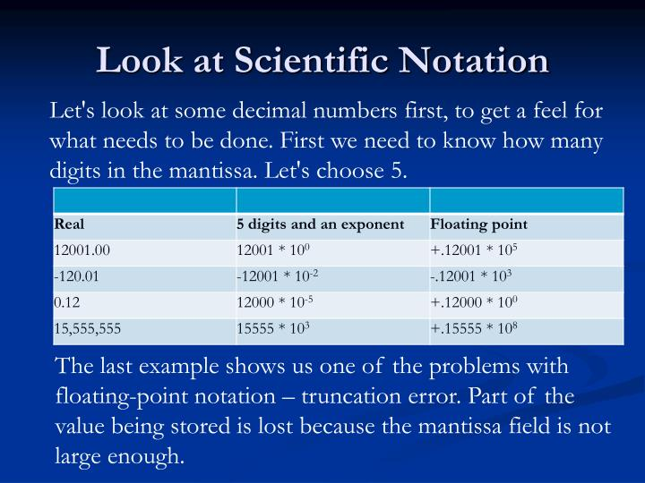 Look at Scientific Notation