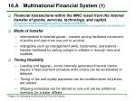 16 a multinational financial system 1