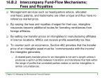 16 b 2 intercompany fund flow mechanisms fees and royalties