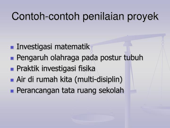 Contoh contoh penilaian proyek