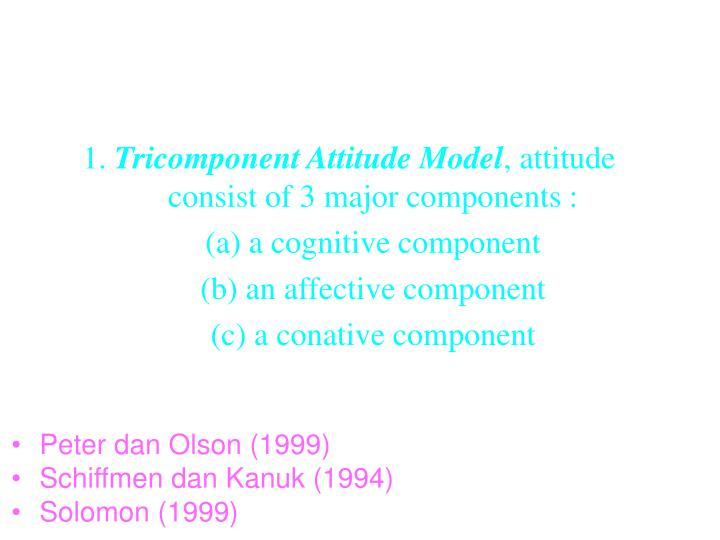 tri component attitude model Will explain the three components: behavioural, affective and cognitive will demonstrate inconsistent and consistent relationships between attitude and components everything you need to know about tri-component model of attitudes by thao nguyen on prezi.