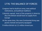 1776 the balance of forces