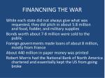 financning the war