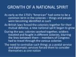 growth of a national spirit