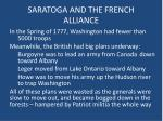 saratoga and the french alliance