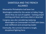 saratoga and the french alliance3