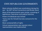 state republican governments