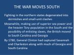 the war moves south