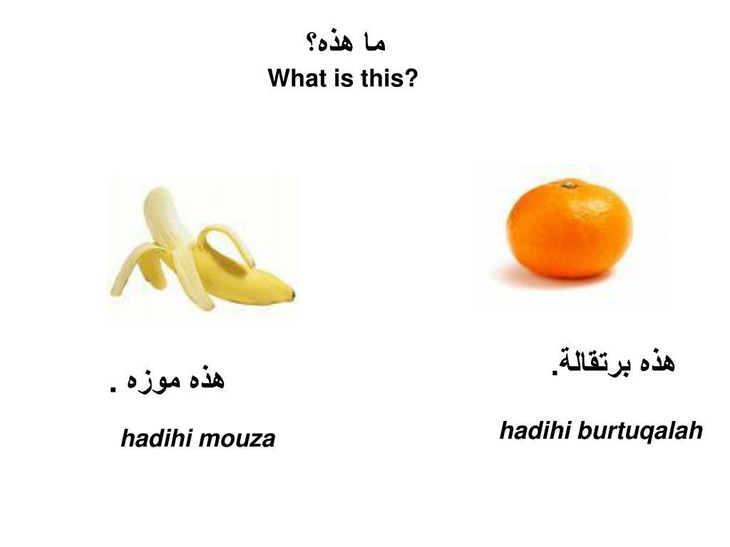 PPT   ARABIC LANGUAGE TASTER PowerPoint Presentation, free ...