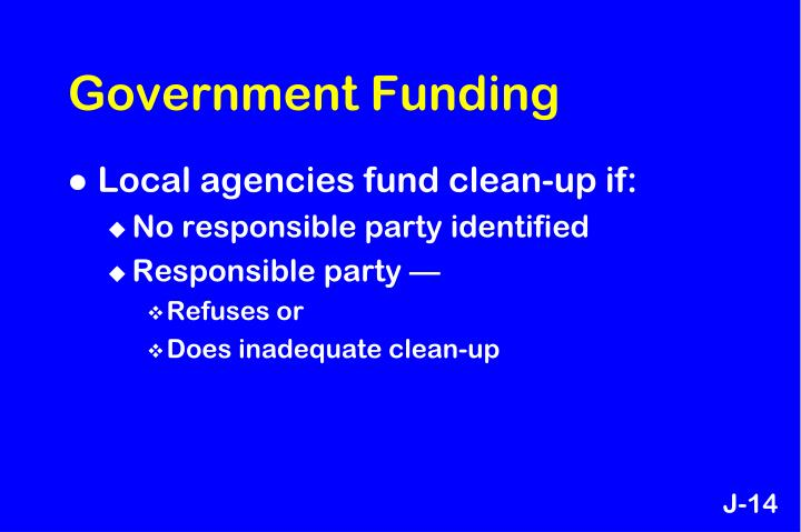 Government Funding