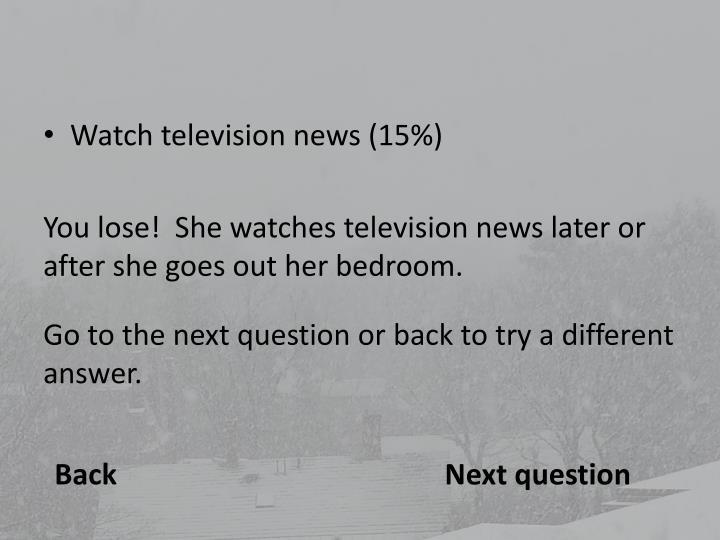 Watch television news (15%)