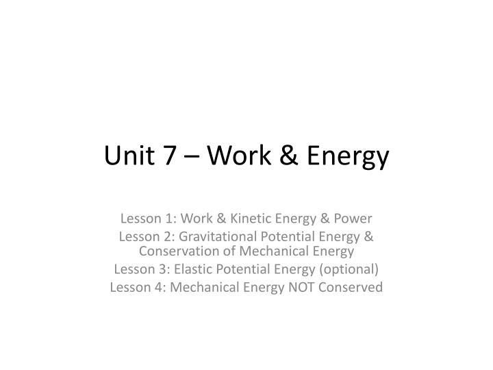 unit 7 work energy n.