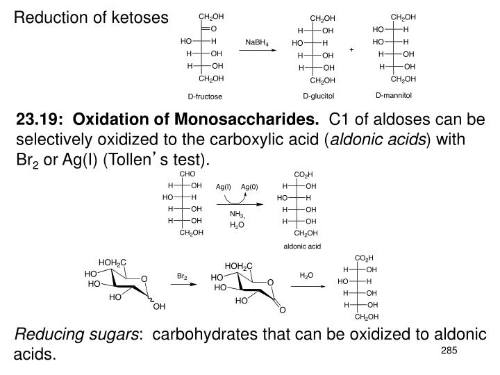 Reduction of ketoses