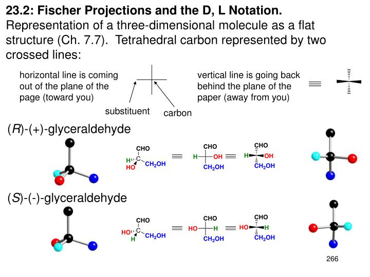 23.2: Fischer Projections and the D, L Notation.
