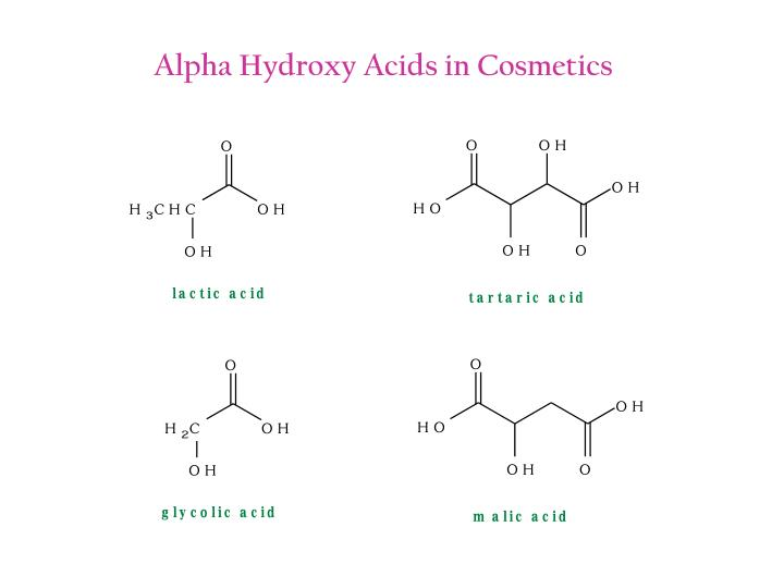 Alpha Hydroxy Acids in Cosmetics