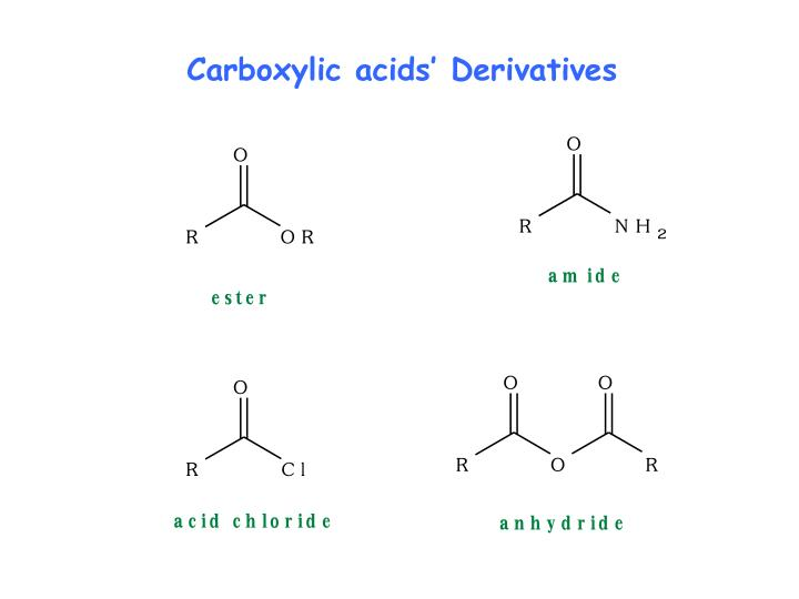 Carboxylic acids' Derivatives