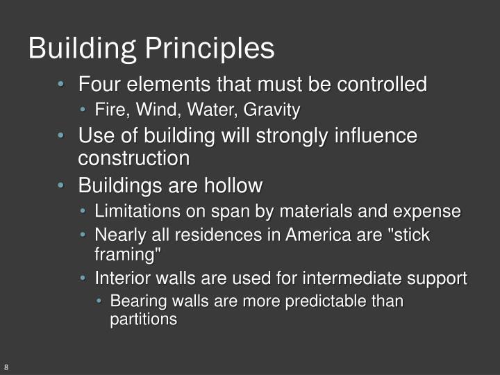 Building Principles