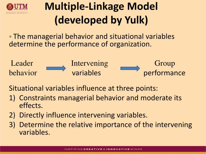 yulk leadership model As our leadership development maturity model describes, high powered companies view the leadership development process as a continual process which only begins with .