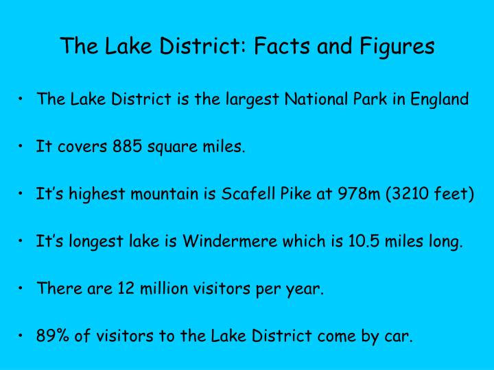 The Lake District: Facts and Figures