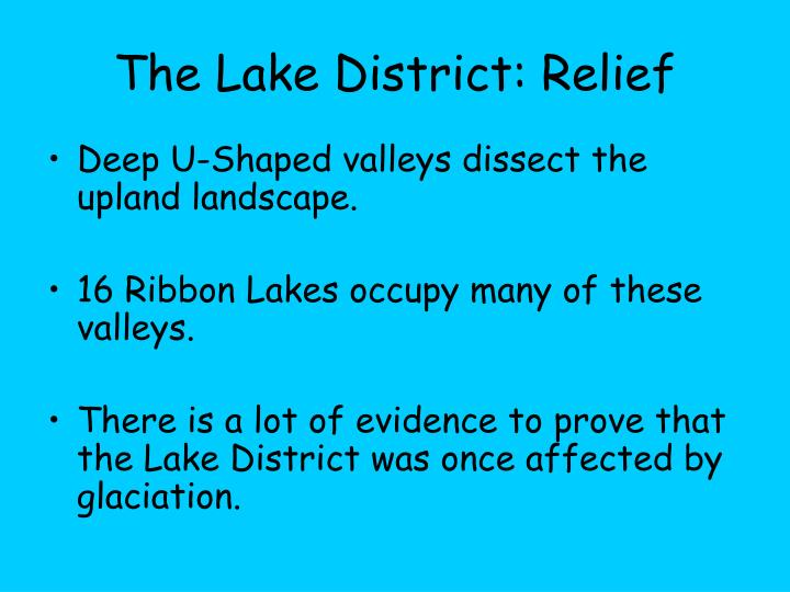 The Lake District: Relief