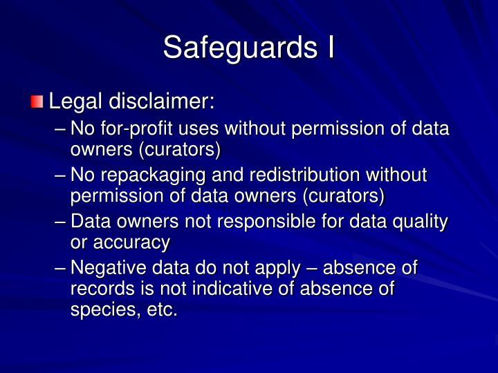 Safeguards I