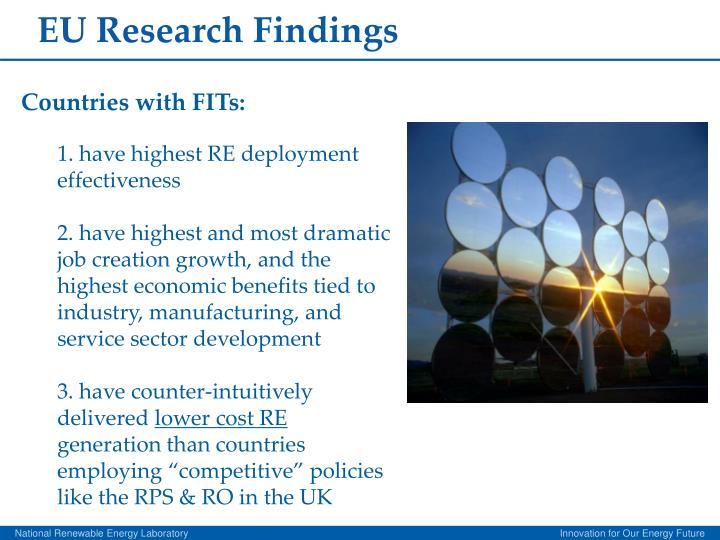 EU Research Findings