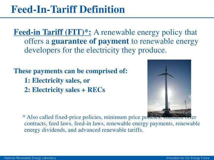 Feed in tariff definition