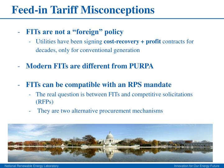 Feed-in Tariff Misconceptions